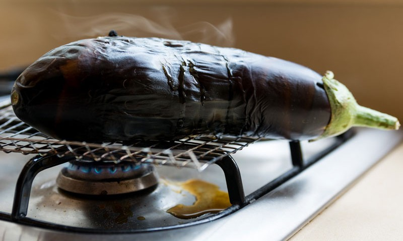 How To Cook Eggplant On Open Flame