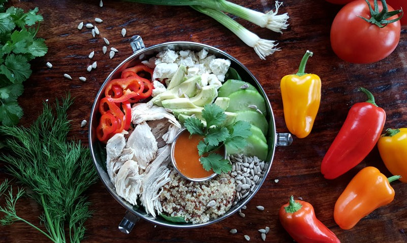 Healthy lunch bowl recipes veggie protein lunch bowls lunch bowl recipe chicken peppers forumfinder Image collections