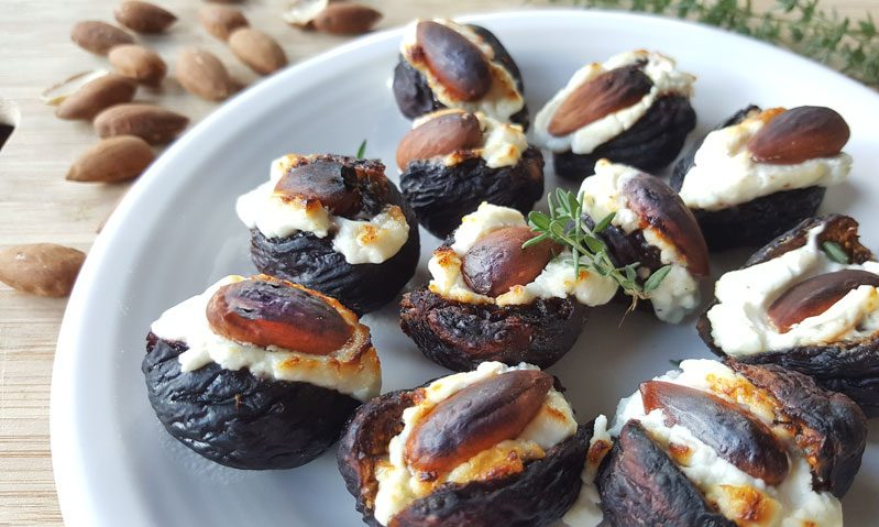 Easy tasty goat cheese stuffed dried fig appetizer azure standard fig appetizer recipe forumfinder Choice Image