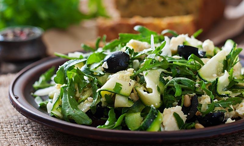 Shaved Zucchini Garden Salad Recipe | Easy Zucchini Salad Recipe
