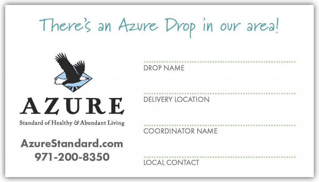 drop coordinator marketing kit  u2022 azure standard